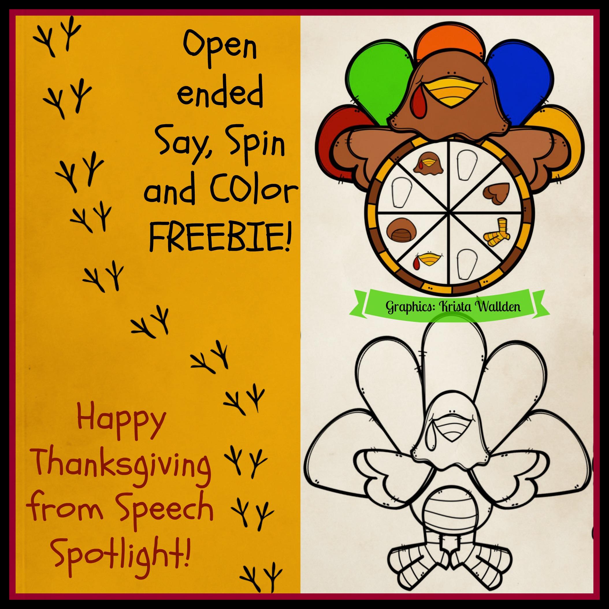 Happy Thanksgiving from Speech Sotlight