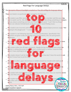 top red flags for language delays speech therapy