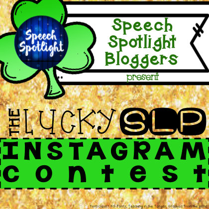 Speech Therapy Instagram Contest St. Patrick's Day