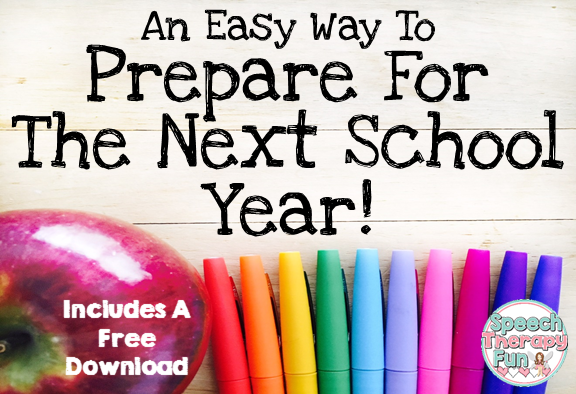 An Easy Way To Prepare For the Next School Year