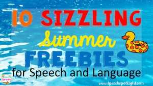 10 FREE Summer Speech Therapy activities and recommended resources from the SLPs at Speech Spotlight by Speech Sprouts at www.speechspotlight.com