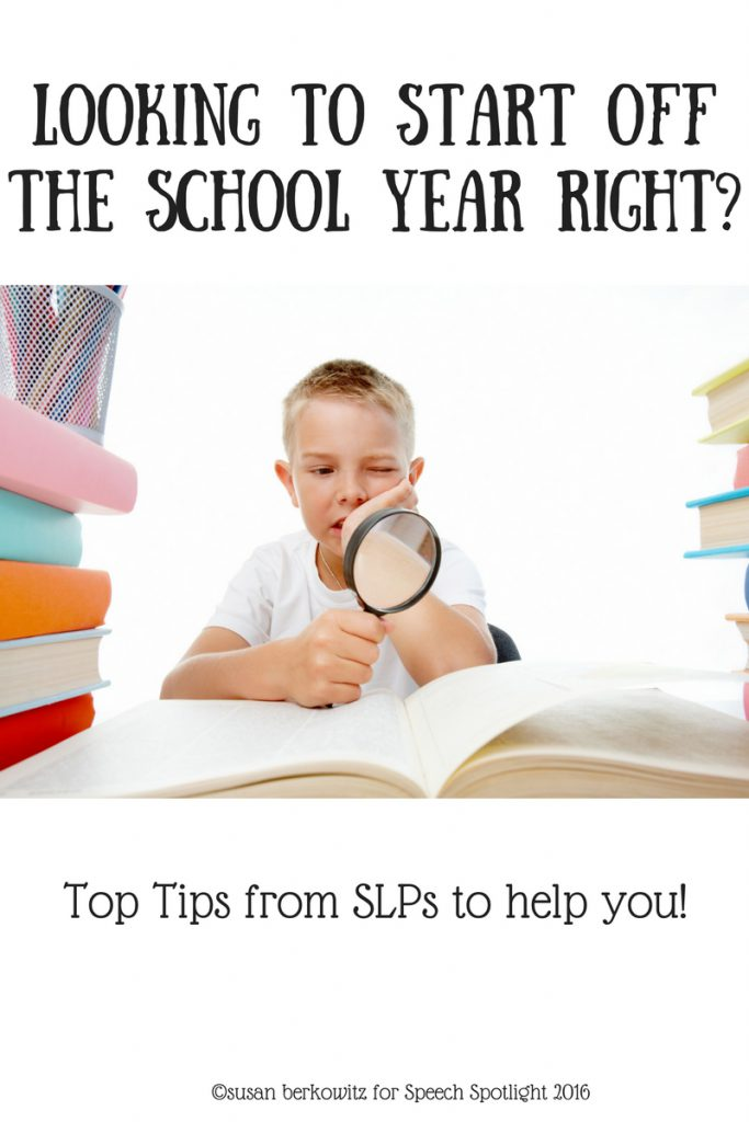 Top Tips from SLP for starting a new school year