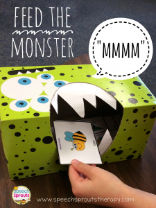 Feed The Monster Articulation Activity - Speech Sprouts Therapy