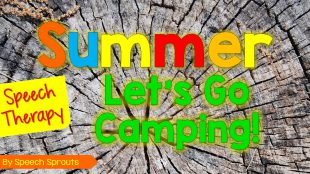 Summer Camping theme fun in speech therapy